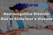 Neurocognitive Disorder Due to Alzheimer disease