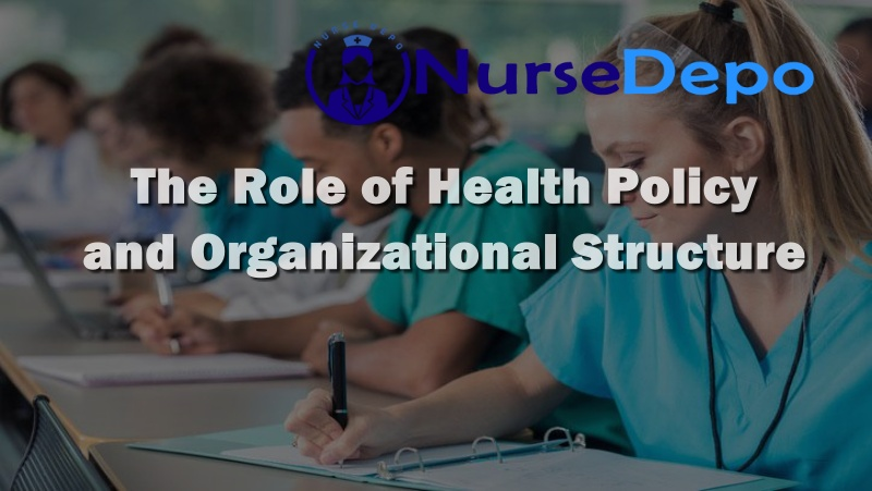 The Role of Health Policy and Organizational Structure